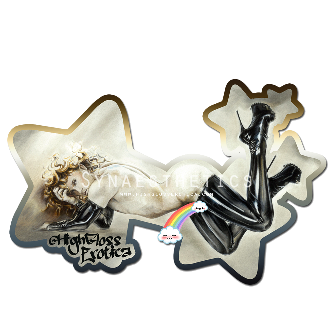 Holographic Sticker! - Praise the trash and enjoy some glittery goodness.Sticker measures approximately 12 x 12cm or 5x5in