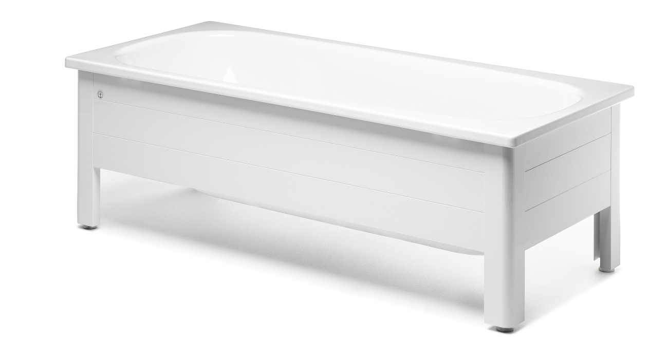 Badkar med front Gustavsberg Standard 1600x700 (6540 kr).