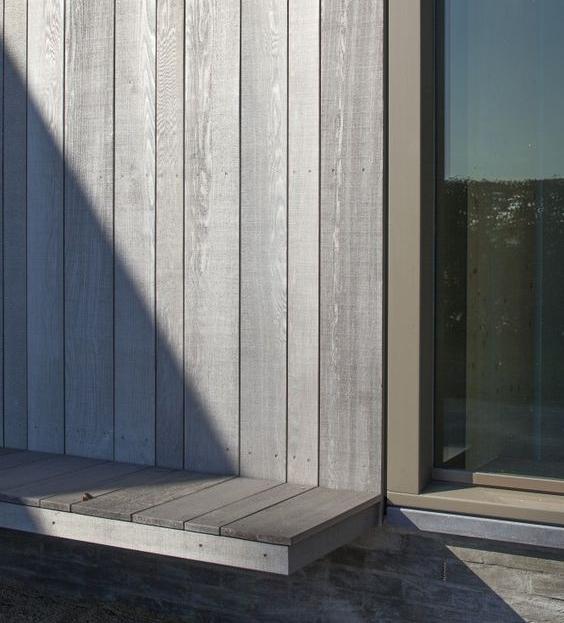 Varierad panelbredd för en mer livfull fasad.