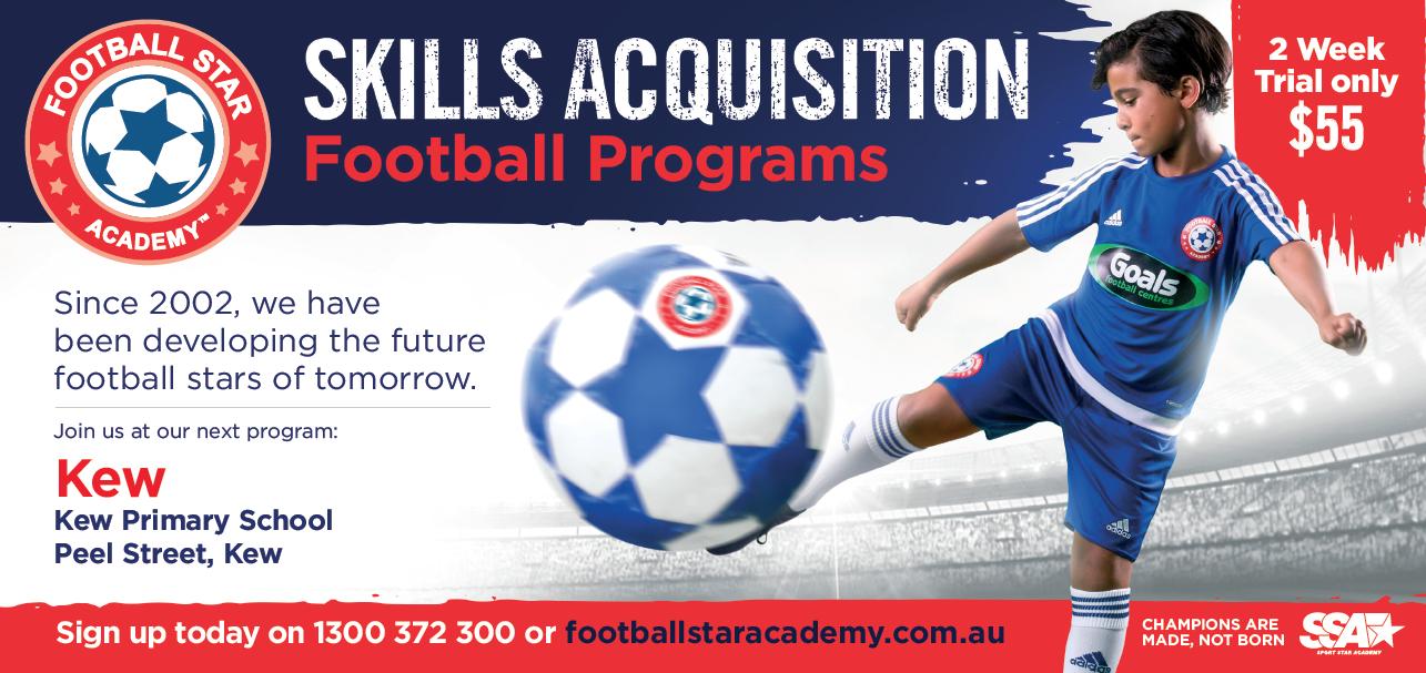 LocalFootball Star Academyis atKew Primary Schoolweekly.