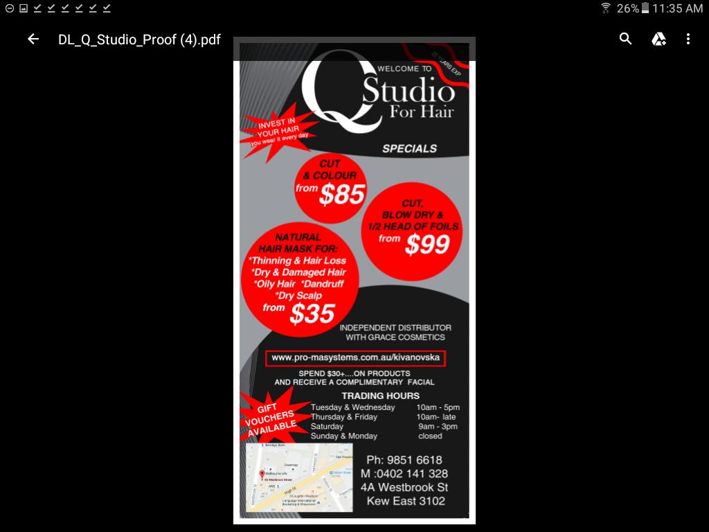 Q Studio For Hair in Kew East