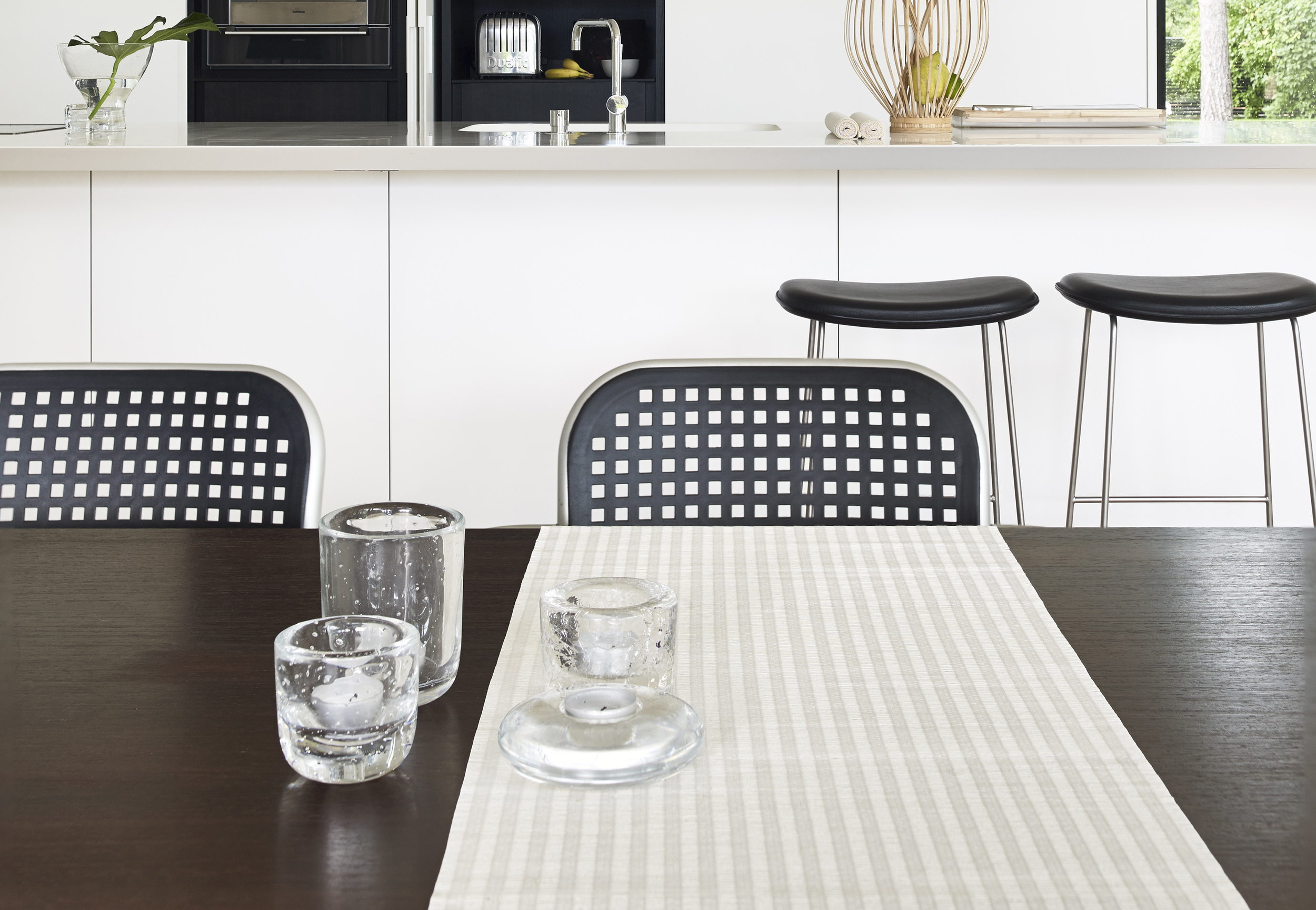 Table runner Vista col. white, width 45 cm