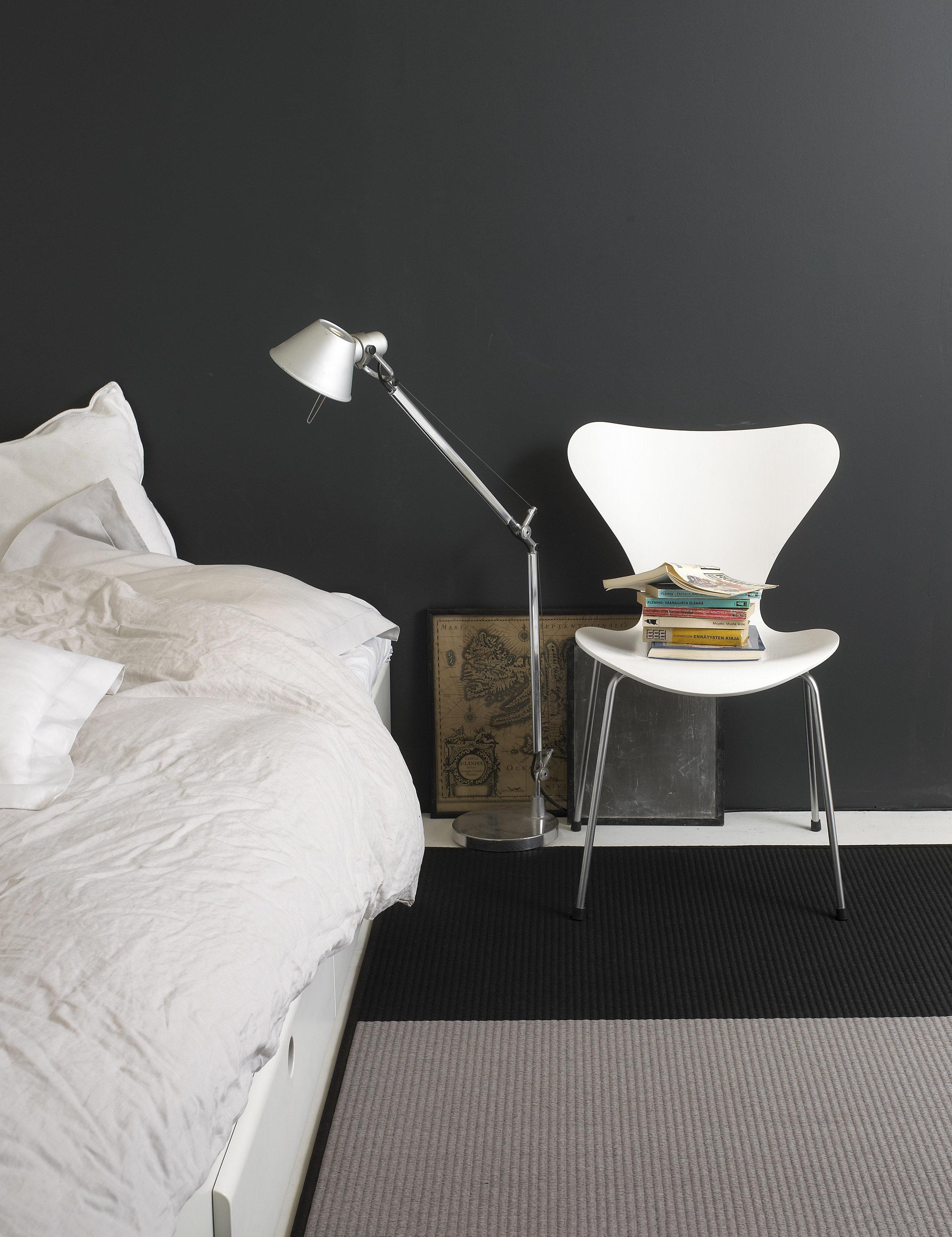 Beach paper yarn carpet personalized colors grey-black