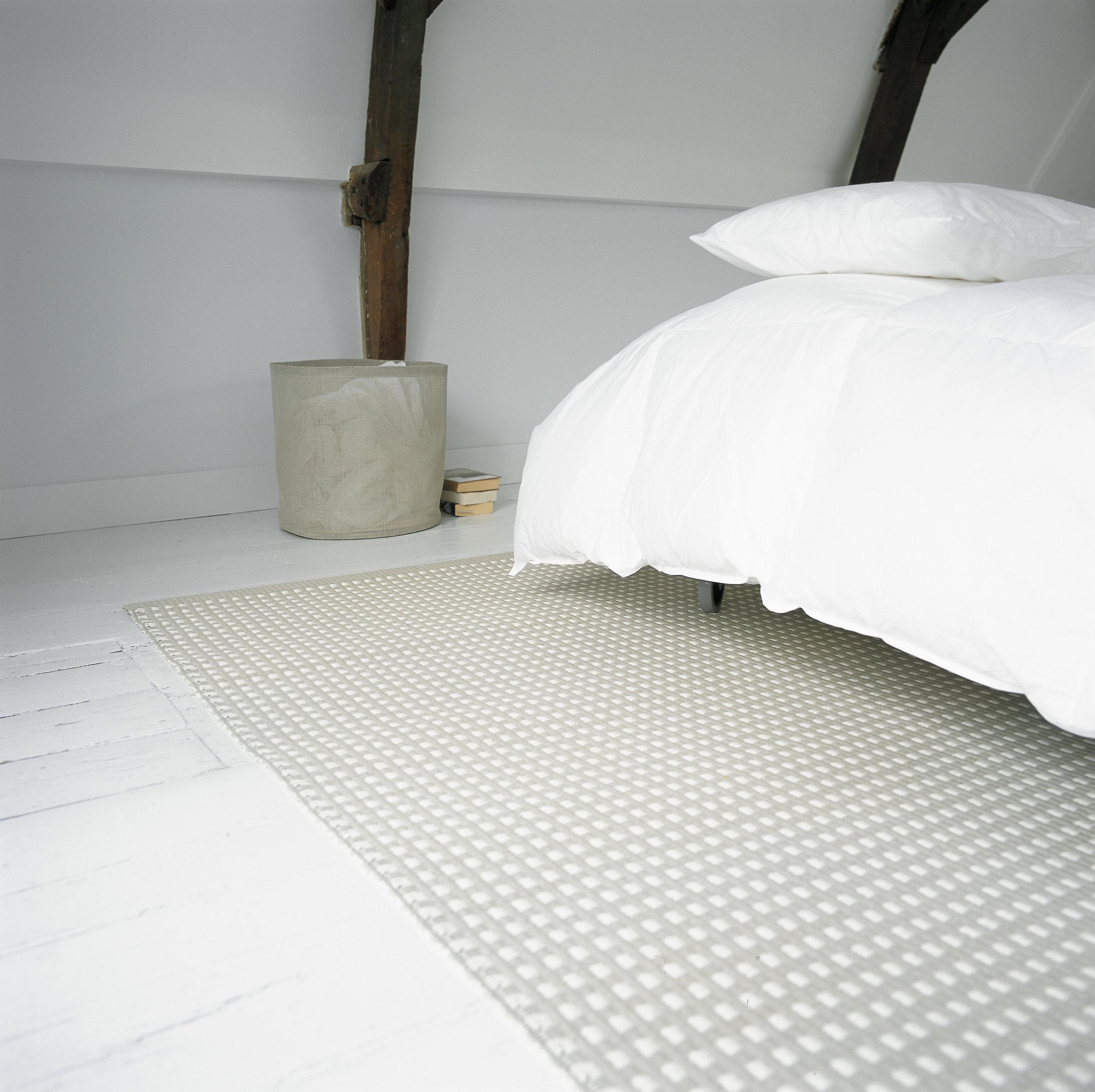 117151 City stone-white paper yarn carpet, 373 Round Zone container stone