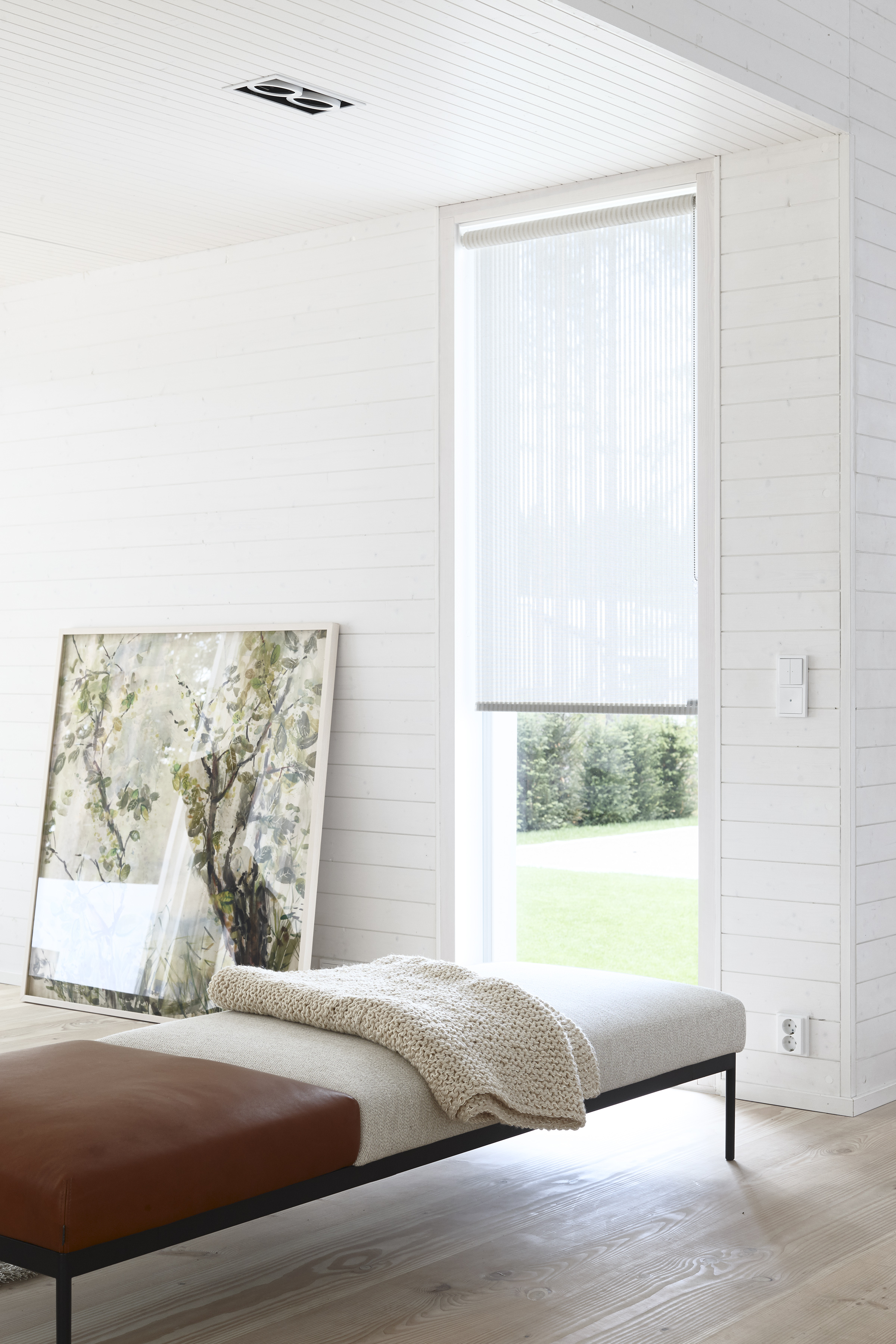 7300101 Woodwool,  Vista  21311 white roller blind