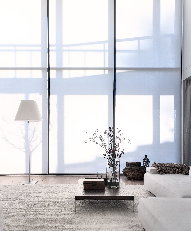 Roller blinds, 1630101  Path  white tufted carpet