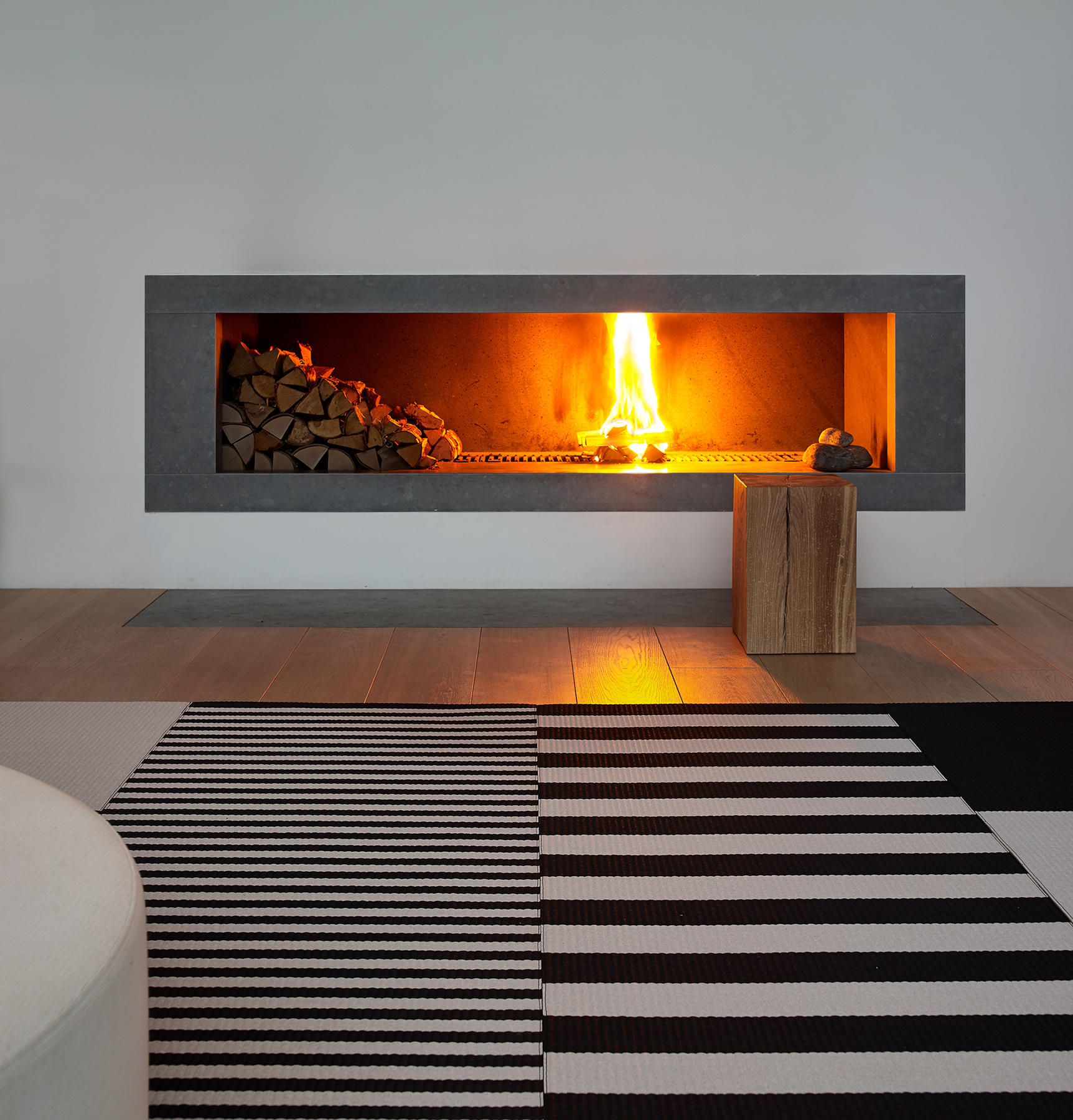 Squareplay  paper yarn carpets together with  Big Stripe  and Stripe carpets