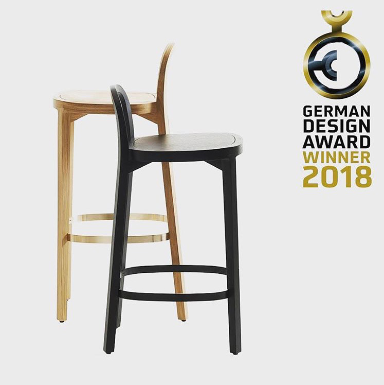 Siro+ bar stool height 65 cm and 75 cm