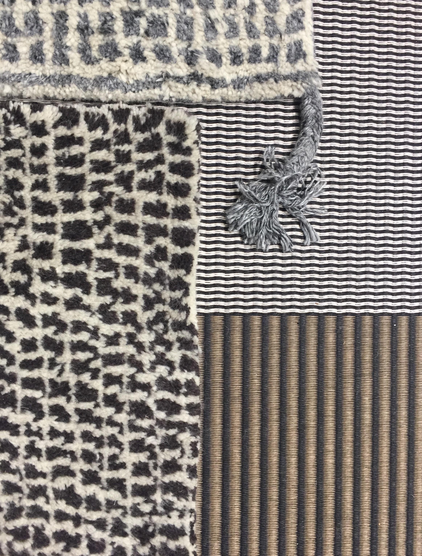 Our new wool carpet together with San Francisco paper yarn carpet. ..Uutuus villanukkamattomme yhdessä San Francisco paperinarumaton kanssa.