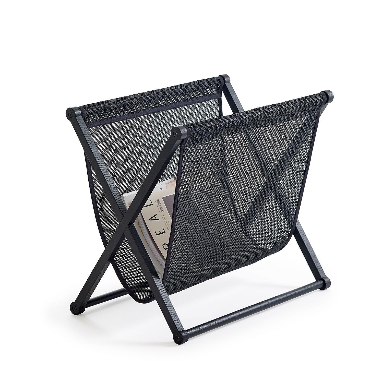 Magazine Rack 3690B99 black frame and black bag