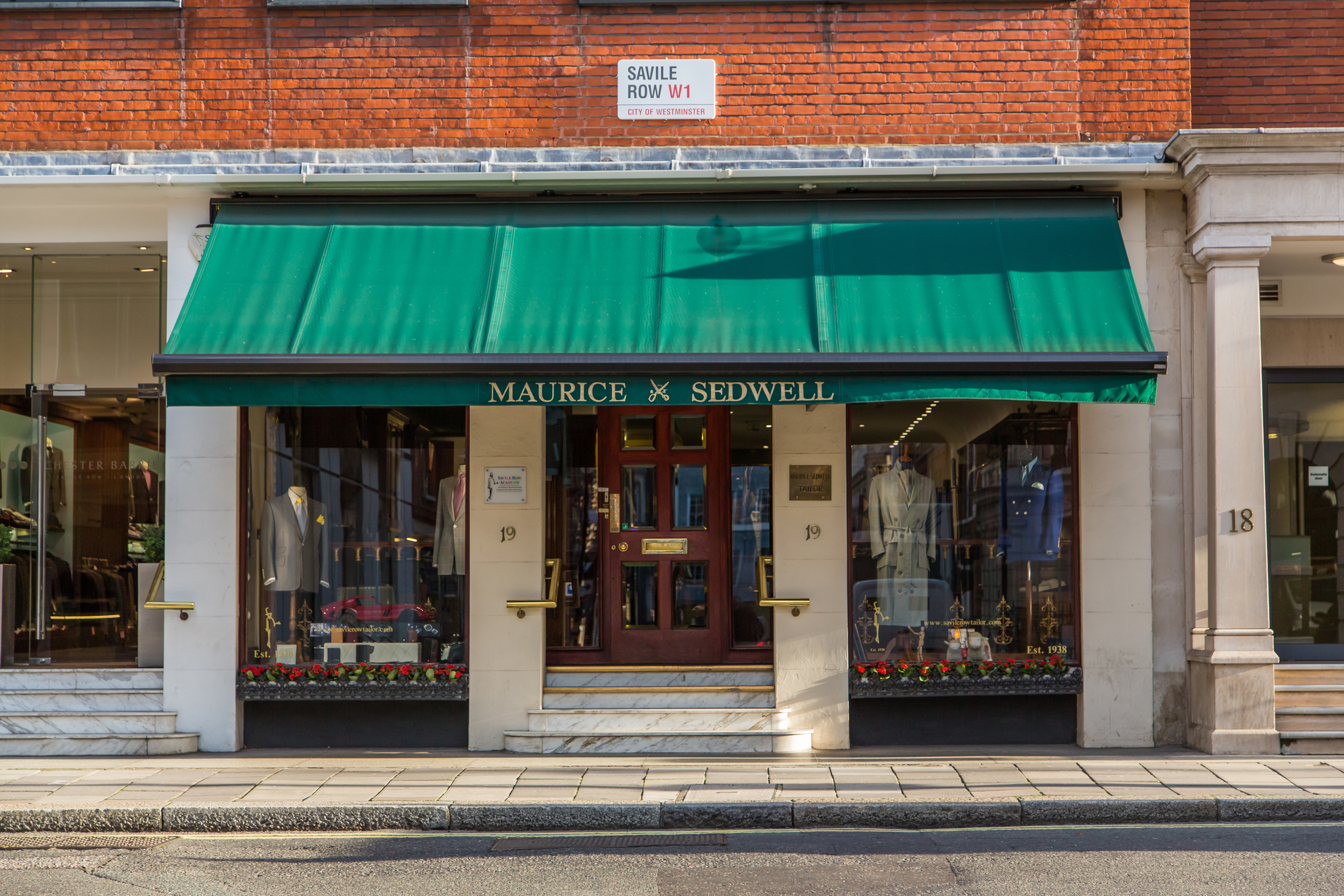 Maurice Sedwell on Savile Row