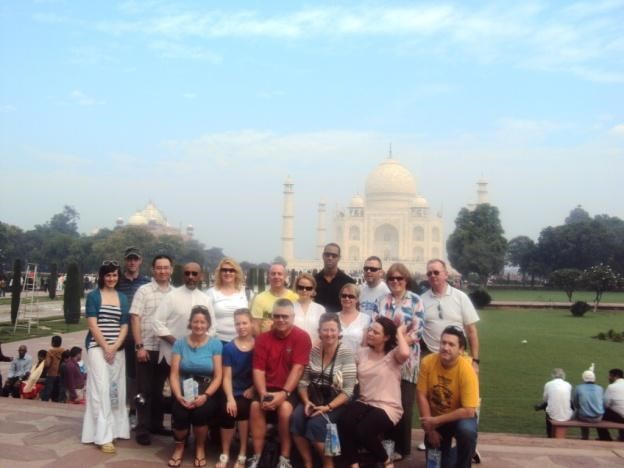 Blue skies greeted us on the Taj visit before heading out on the ride