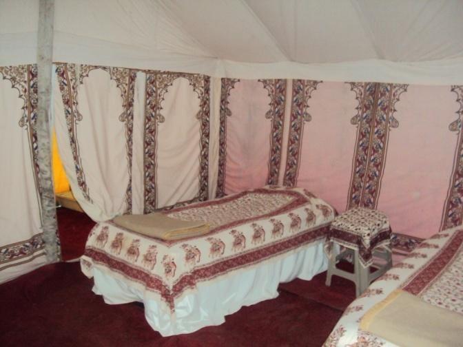 I feel like Lawrence of Arabia in this desert tent