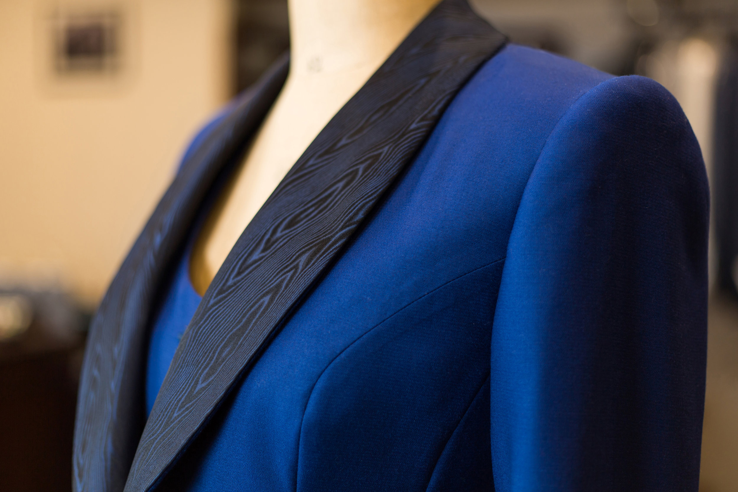 Examples of Ultra Bespoke Maurice Sedwell garments for women.