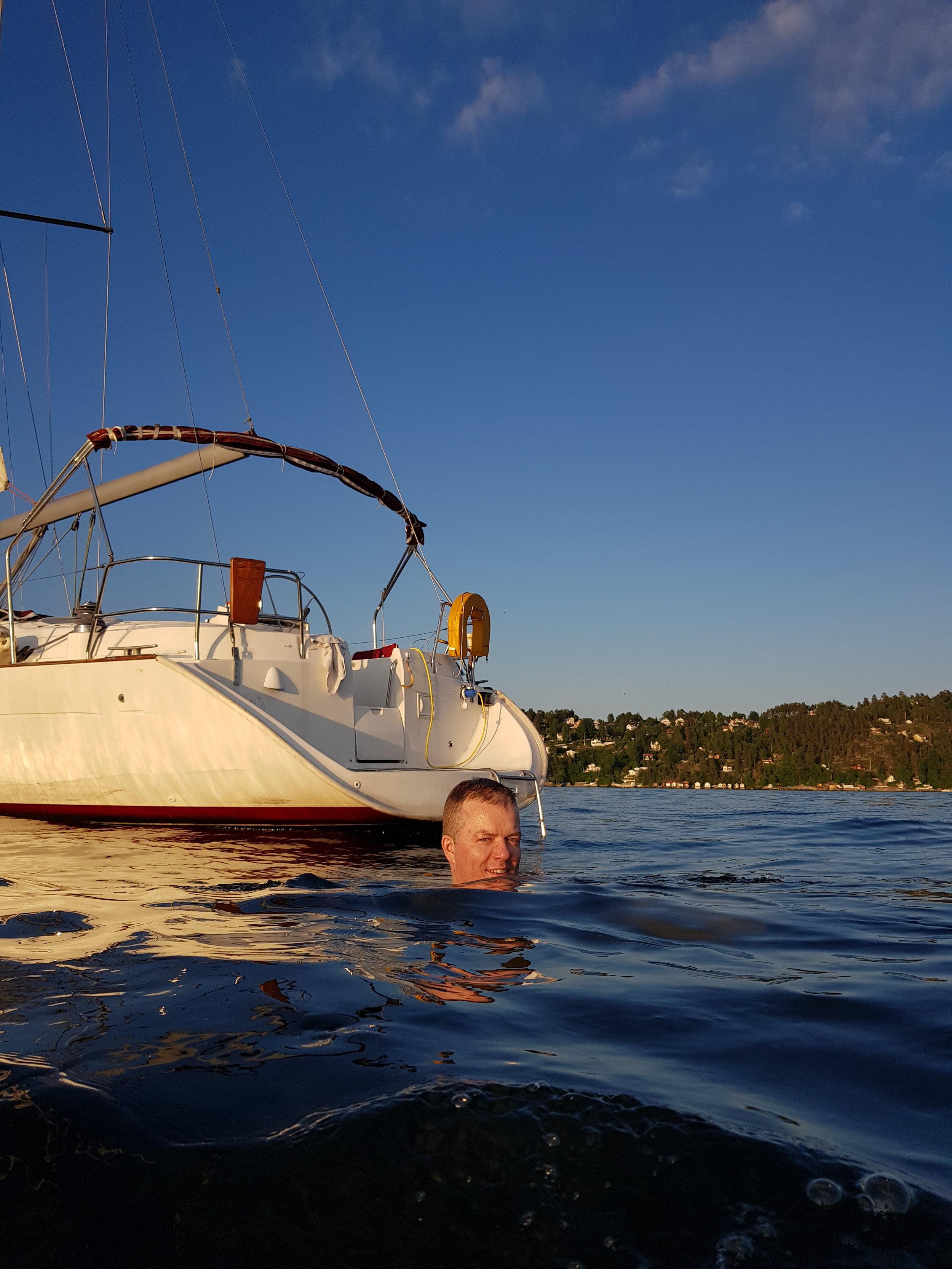 Kristian Severin Skeie til sjøs!