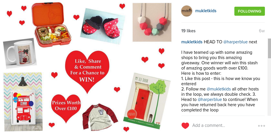 MukletKids Linky Giveaway instagram DianaVonR