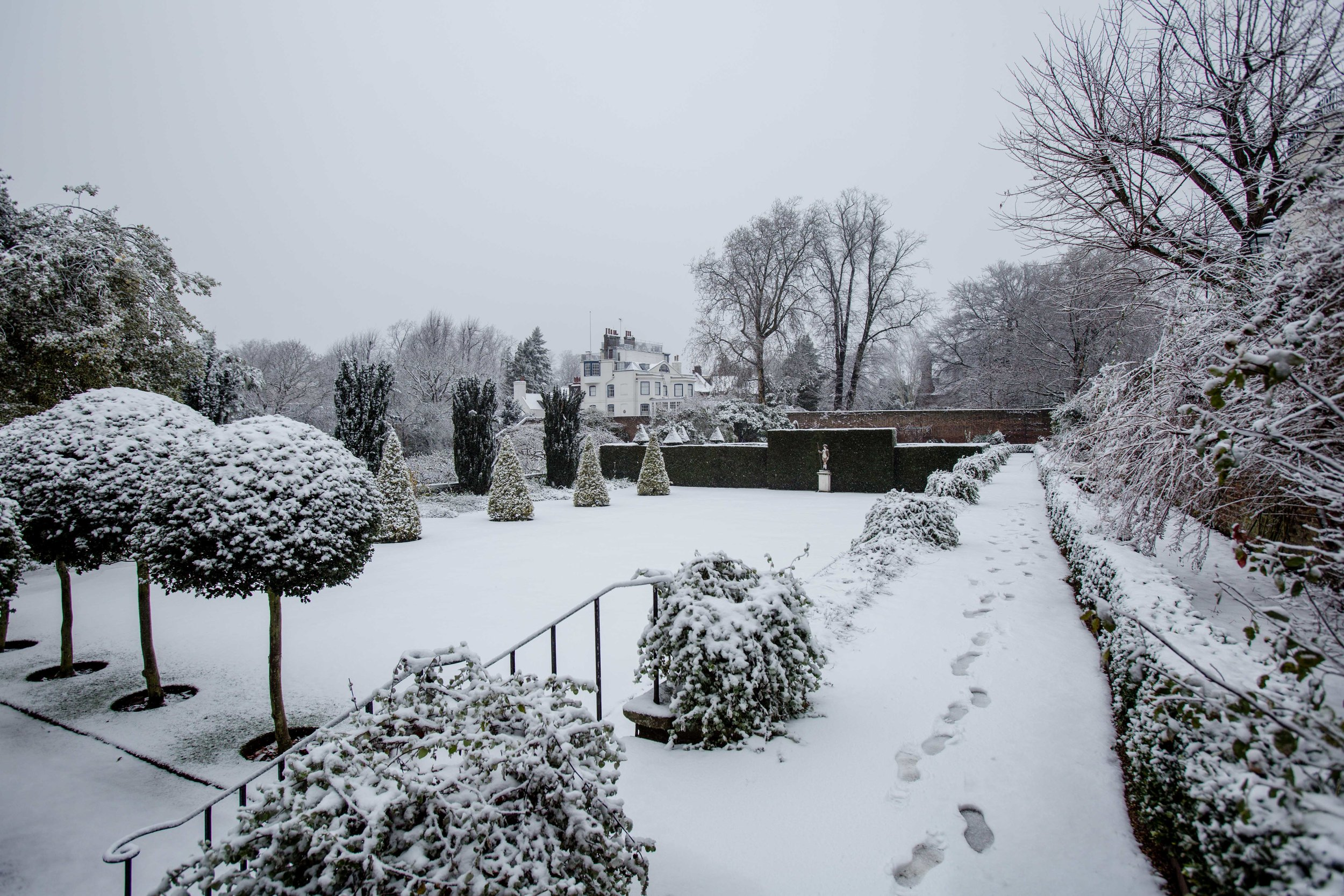 hampstead snow London 2017 Diana von r fenton house