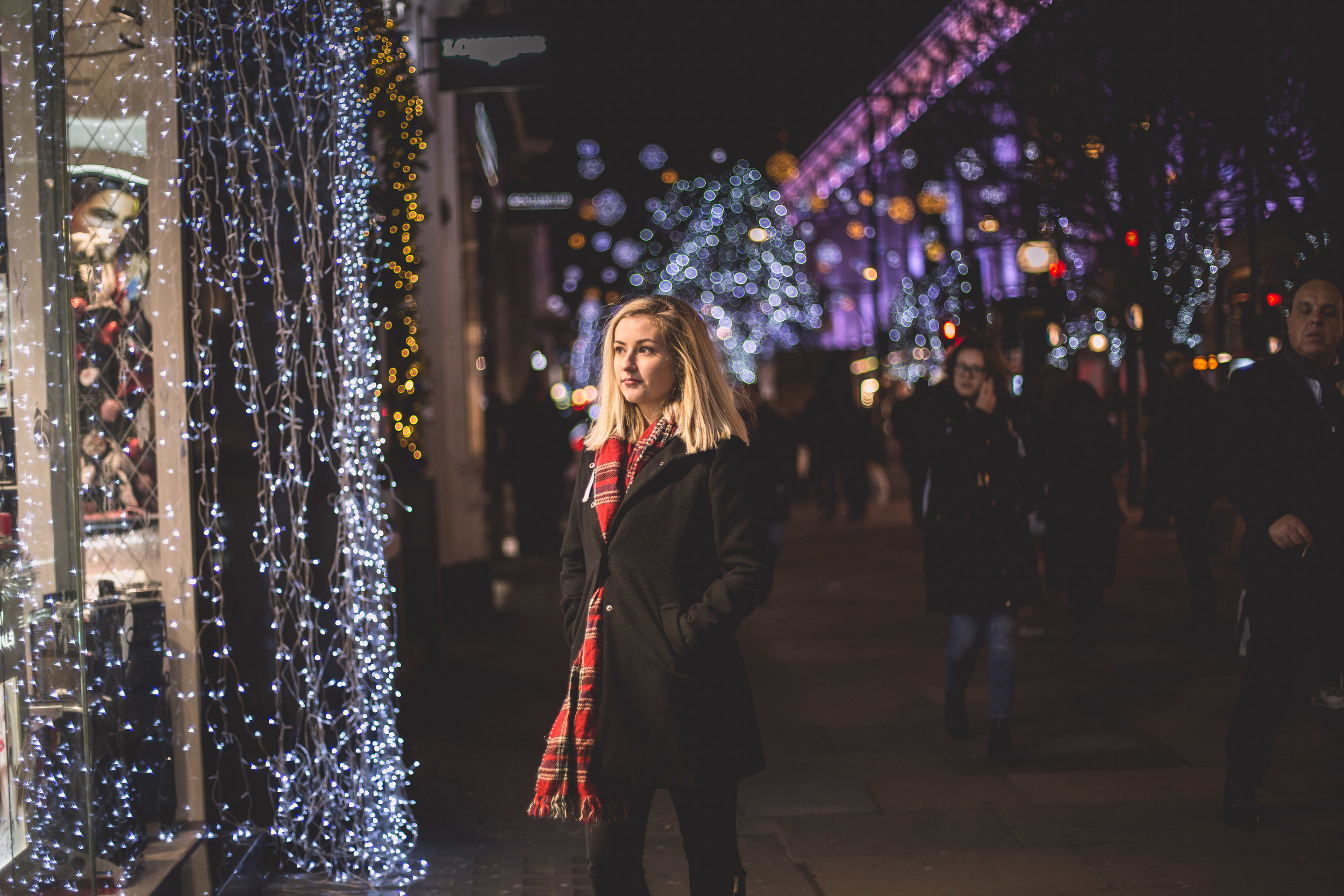 Regents Street Bokeh Photo Shoot London Christmas