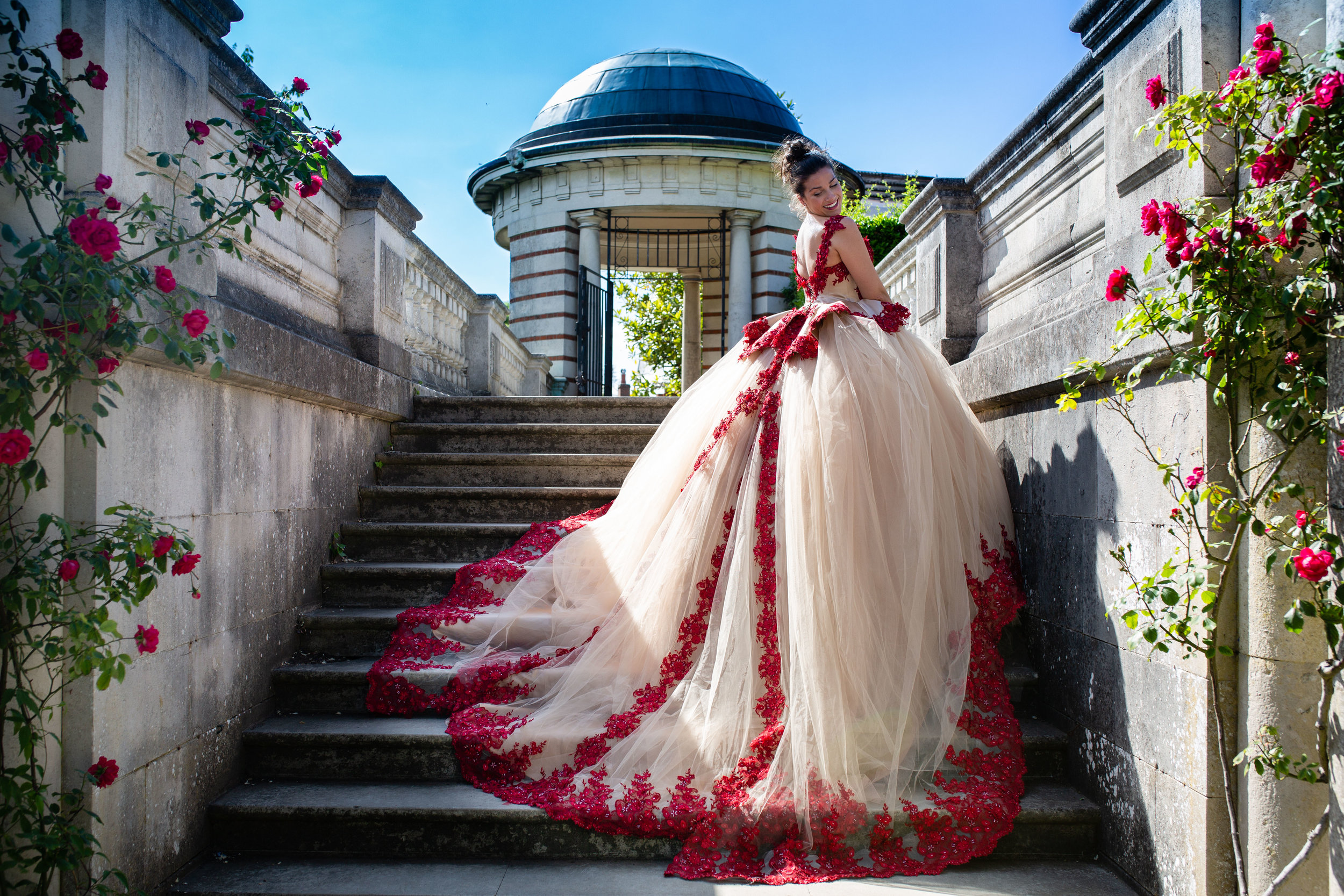 Dress Me Couture Bridal Wedding Pergola Hill Garden Hampstead Diana von R