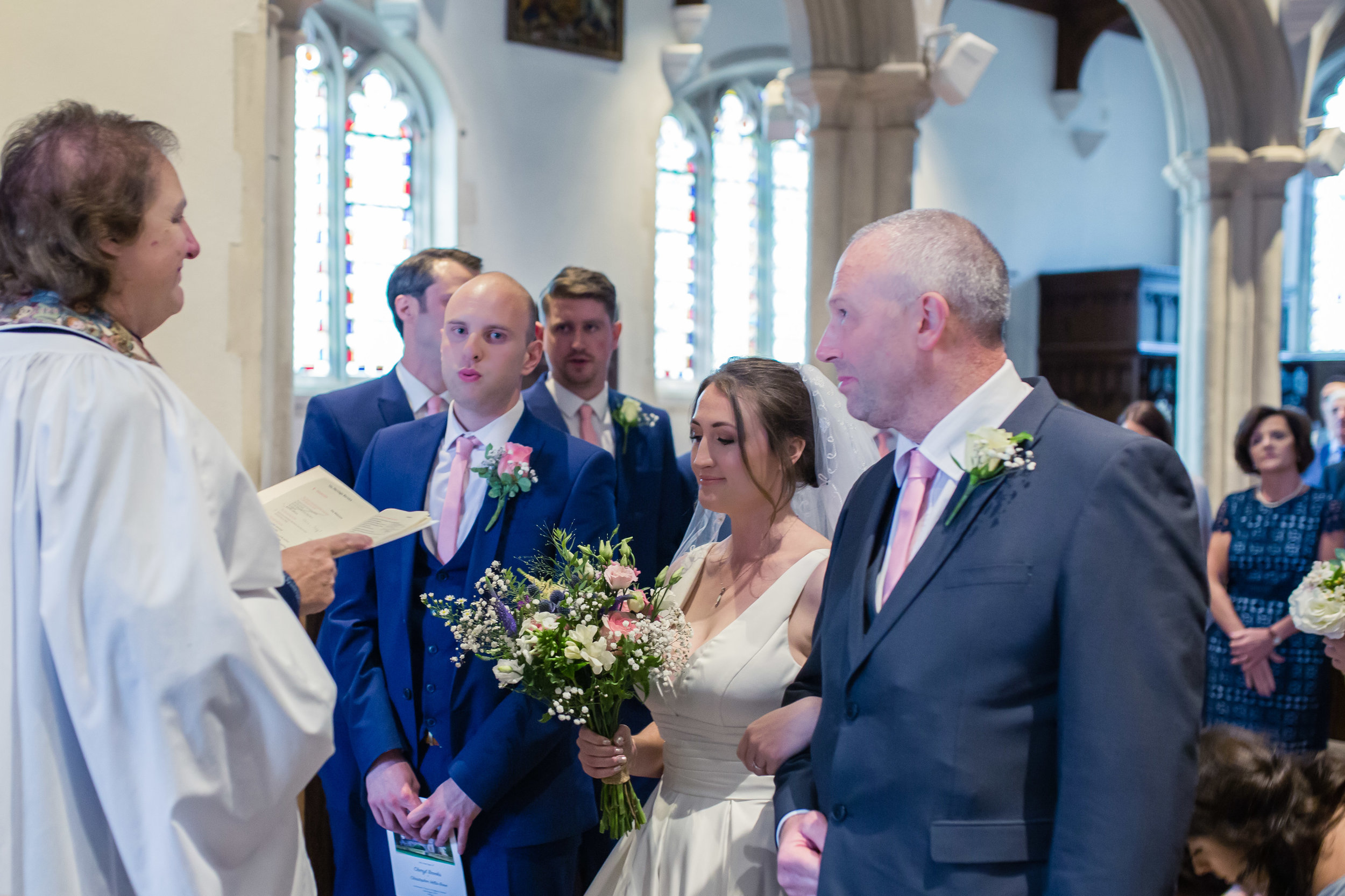 Delighted to capture this expression on the groom's face!