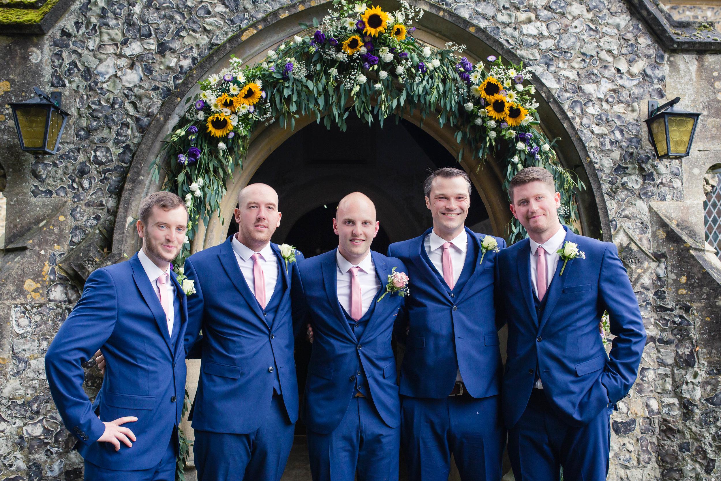 The fantastic groom & groomsmen
