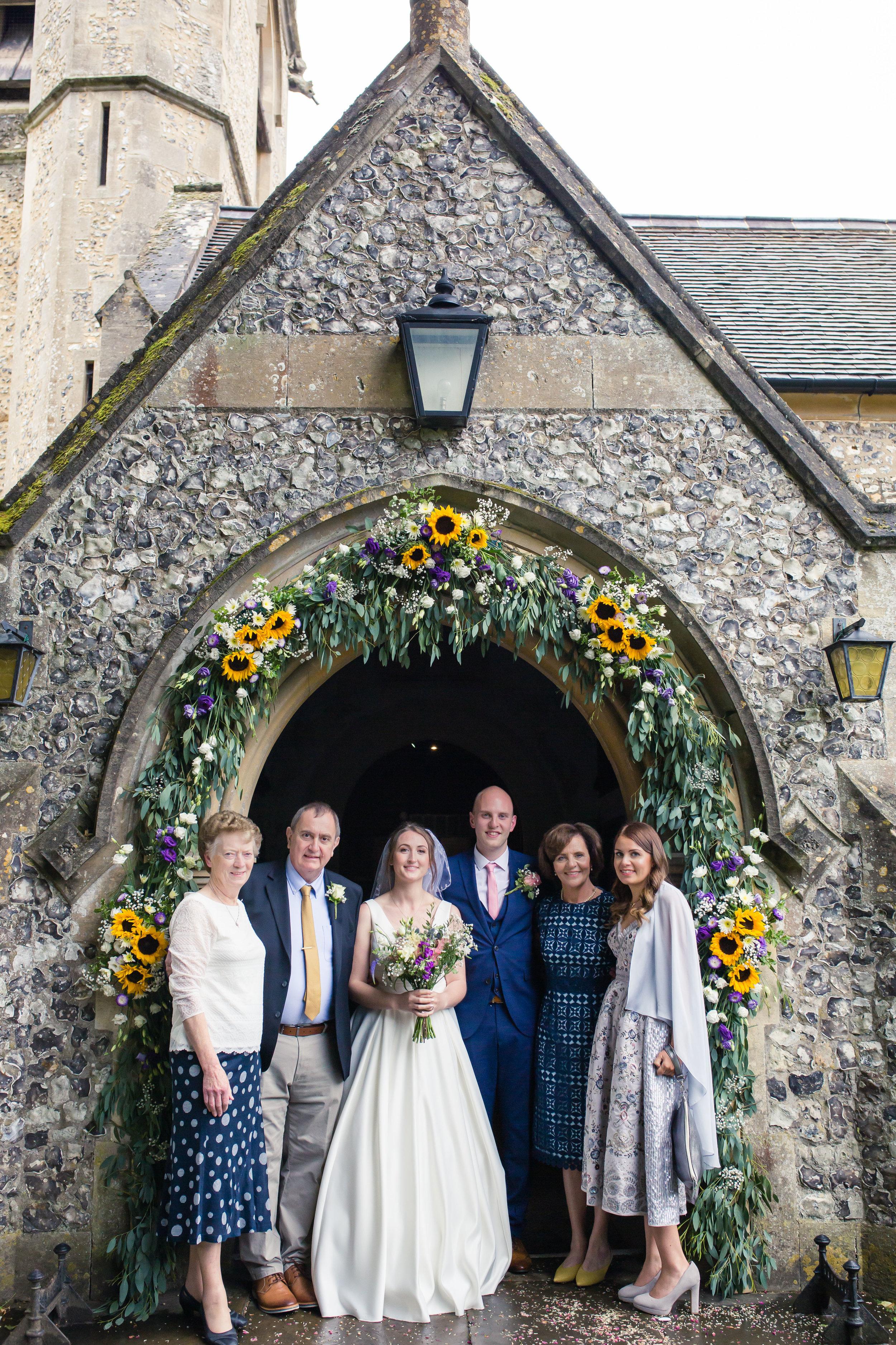 family photo chenies st Michael church wedding diana von r London photographer