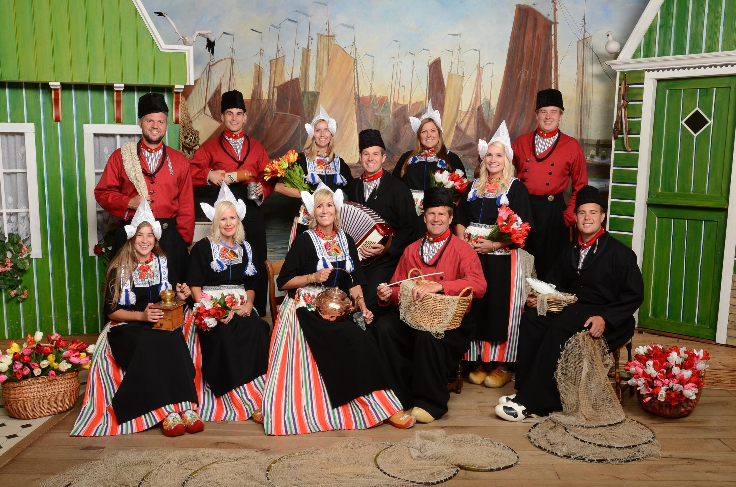 Group in Volendam Costume