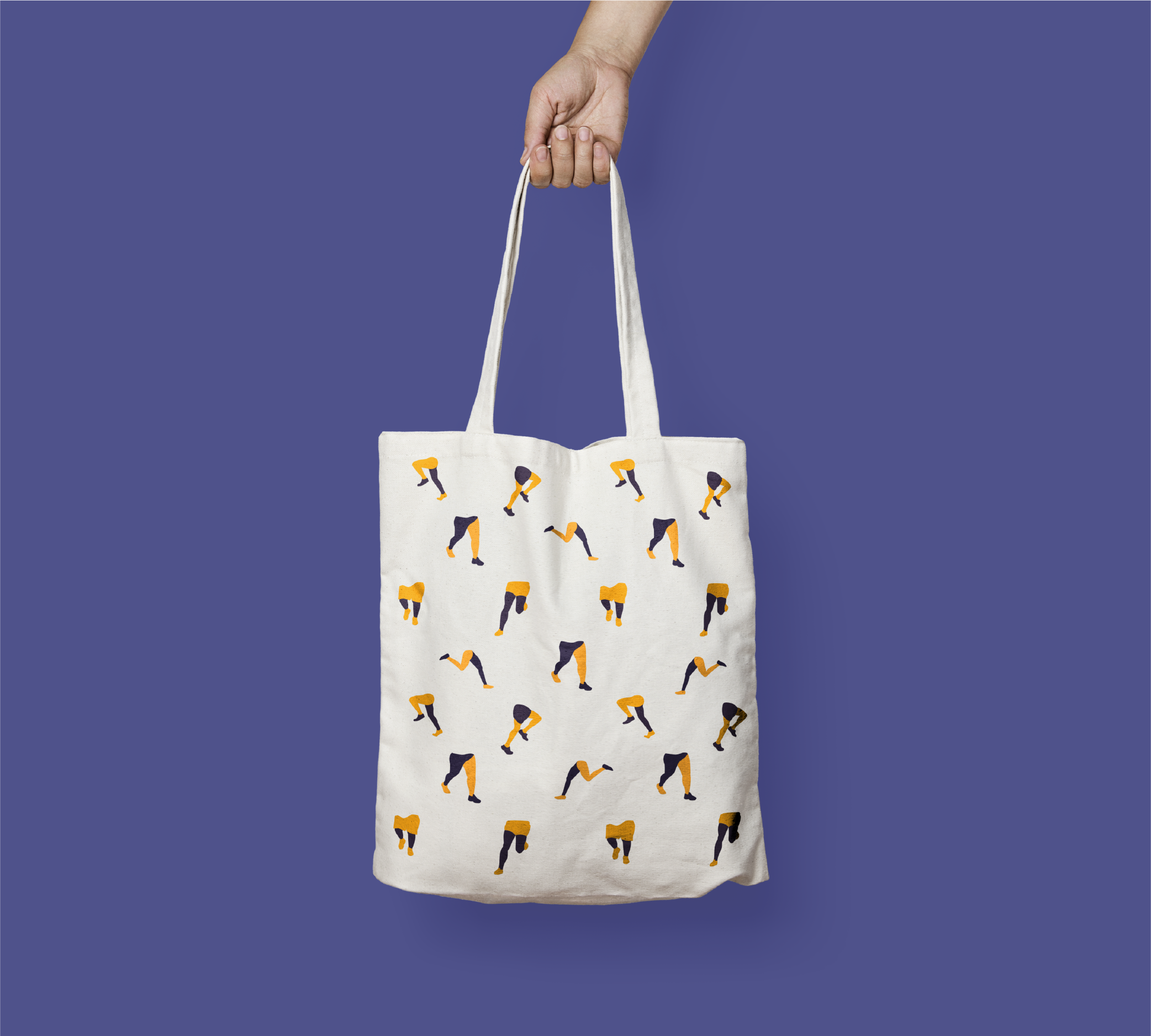 Tote bag for a London running charity