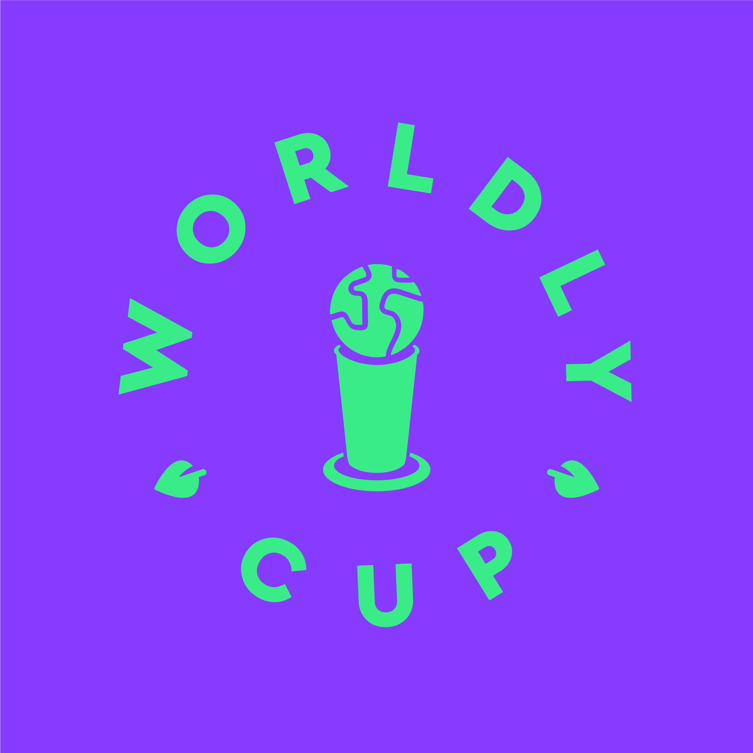 Logo for an anti-plastics campaign during the World Cup