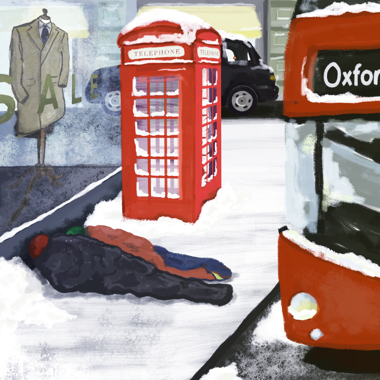 An illustration to raise awareness about London's homeless