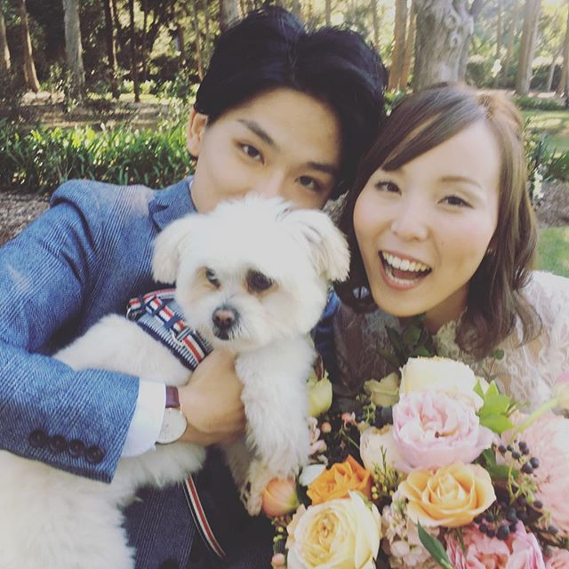 YU + KEVIN were married at the always fancy @gabbinbarhomestead and it was romantic and beautiful but YOU GUYS LOOK AT HAKU. He wasn't the best man, but he was definitely a Good Boy. 10/10.