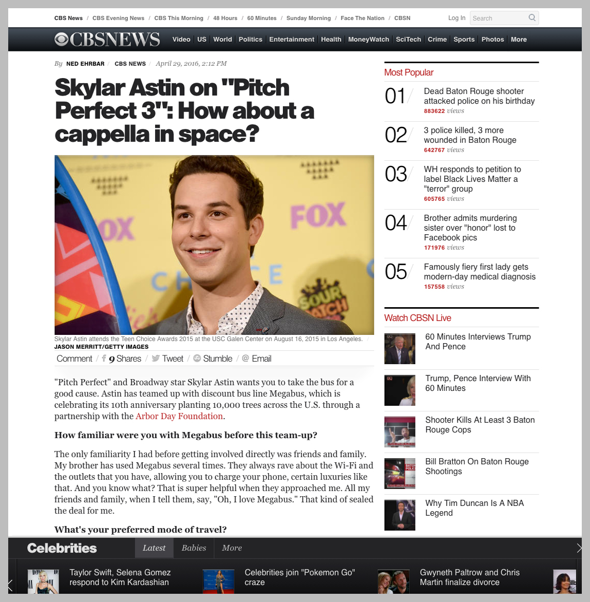 Watch Skylar Astin on CBS NEWS