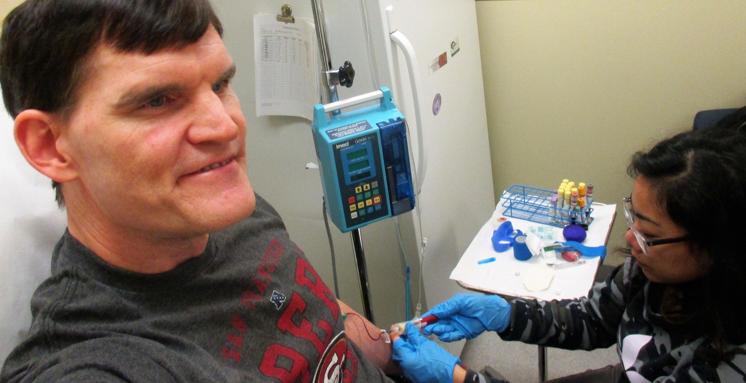 ED WALSH RECEIVING HIV GENE EDITED CELLS