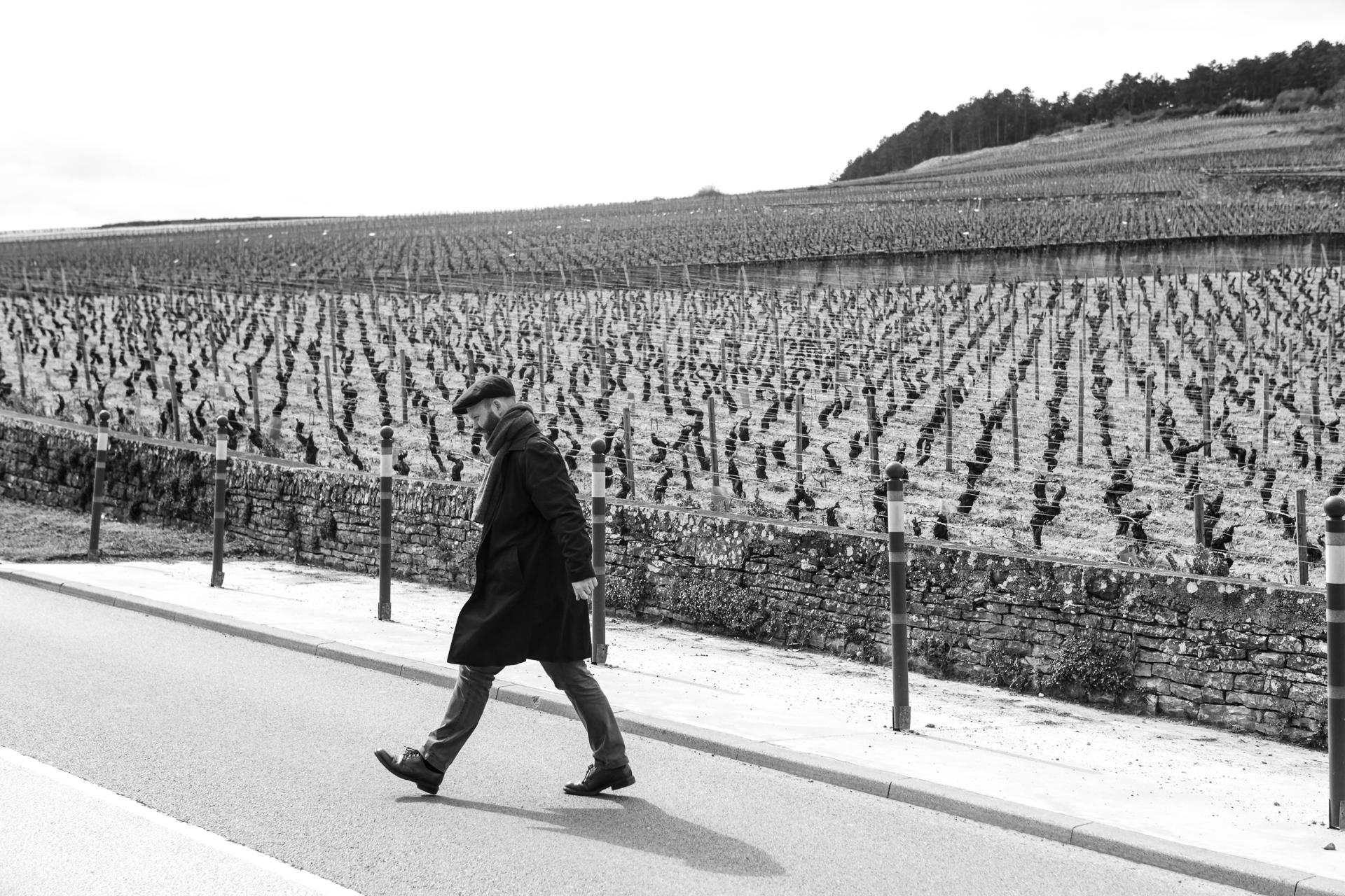 Undertegnede i Volnay, Burgund. Foto:  Heiamat.no