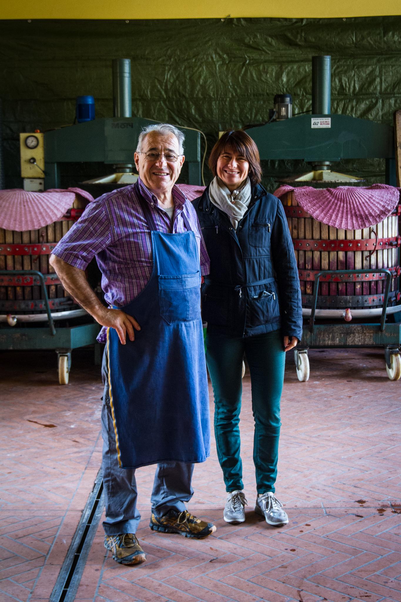 Luciano Sandrone og datteren Barbara