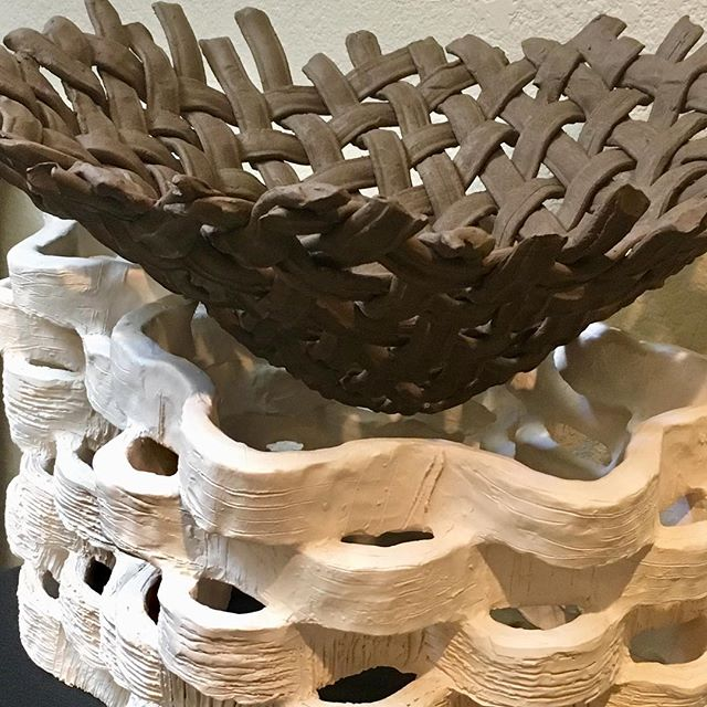 Some of my new work that was included in the 31st California Conference for the Advancement of Ceramic Arts this past weekend in Davis, California. Great to see so much clay work in one place. #ccaca2019 #californiaconferencefortheadvancementoftheceramicarts #ceramicsconference #ceramics