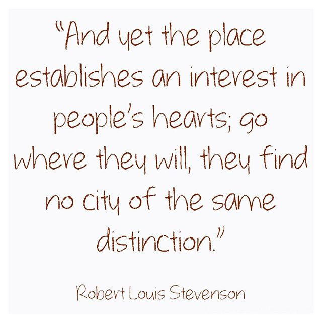 So many great quotes about Edinburgh to choose from!  #rls #robertlewisstevenson