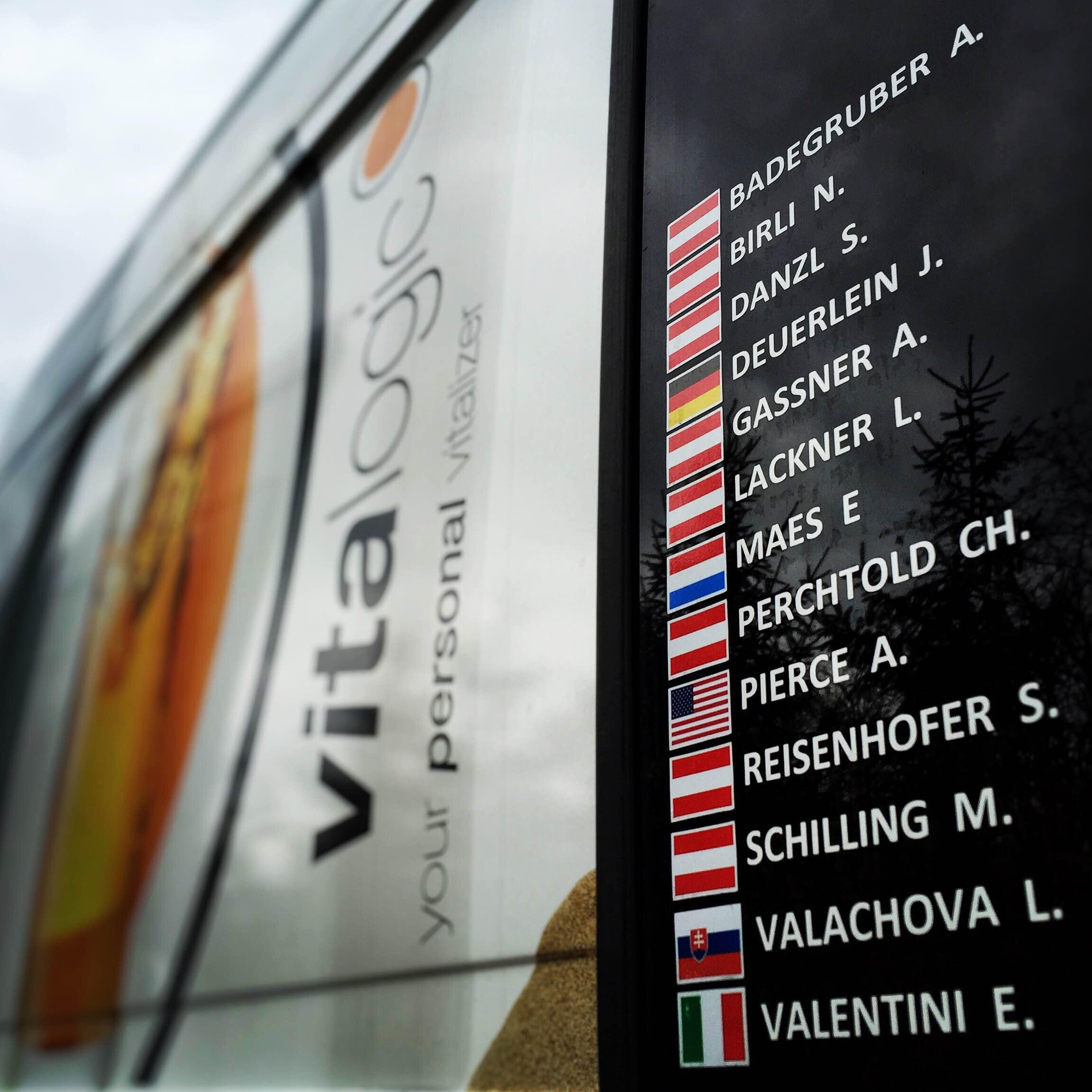 Vitalogic Astrokalb Team bus. Photo by Amber Pierce.
