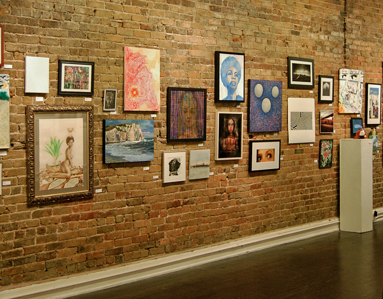 The Carrack Modern Art: Community Exhibition in Durham, NC. Josh Sessoms Artist. Art Gallery Wall, First Friday.