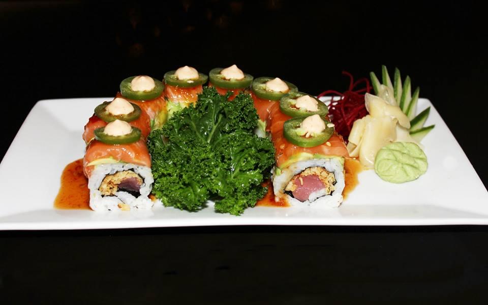 Kosher sushi roll with Jalapeno