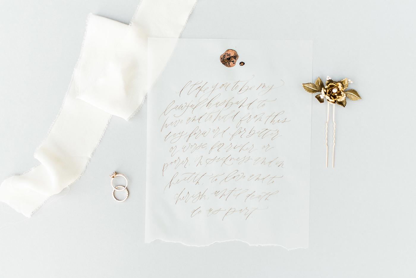 Calligraphy: Sarah Ann Design ; Photo: Gray Door Photography .