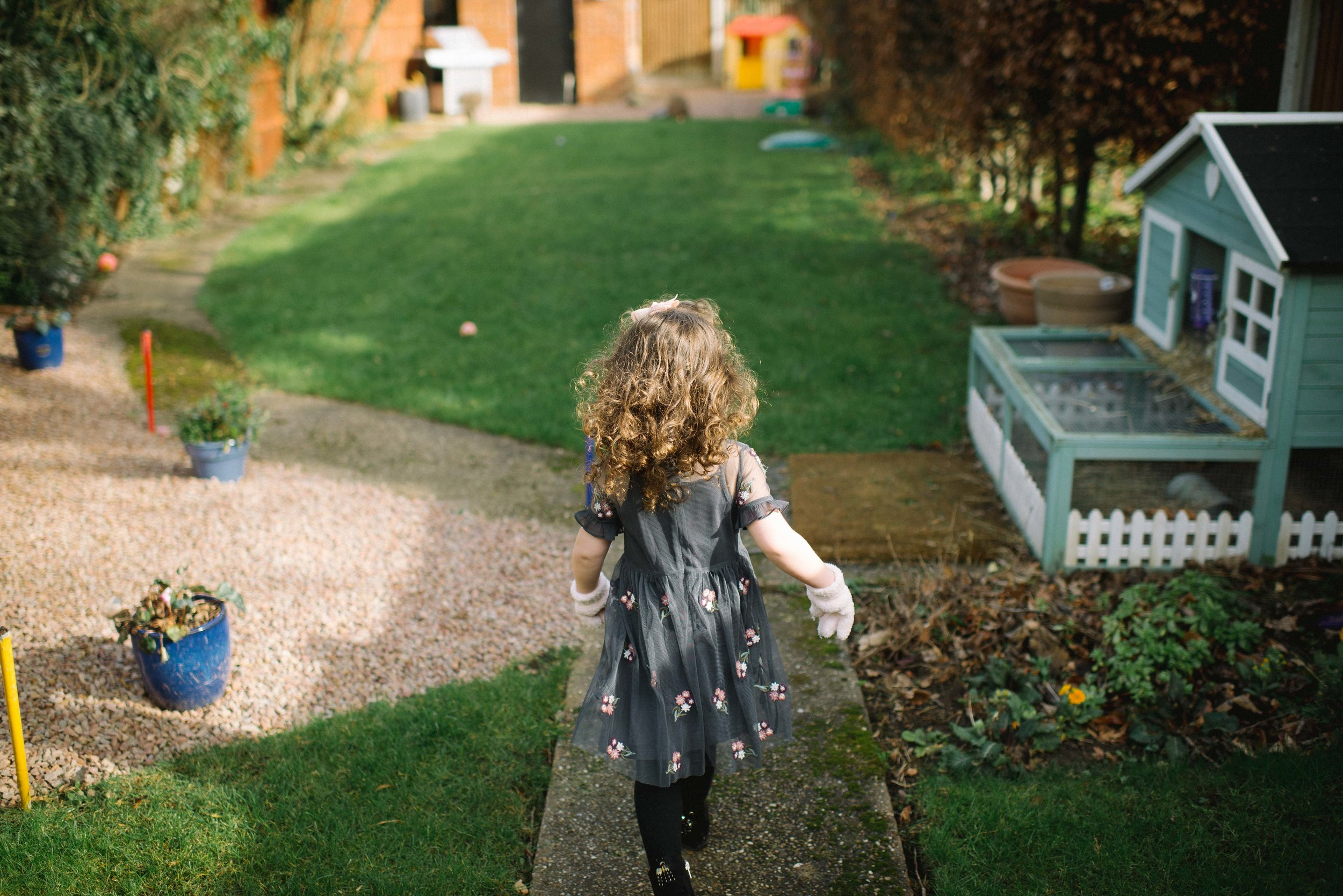 darcie and phoebe - playing the the garden with two little ladies