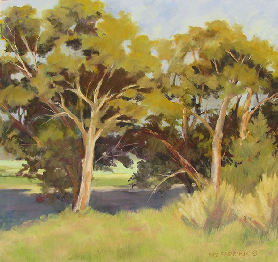 Cottonwood Stand     Pastel      Private Collection