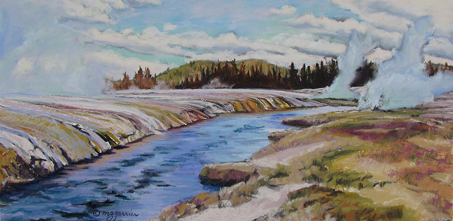 Firehole River     Pastel      Private Collection