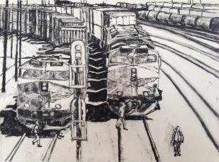 charcoal trains