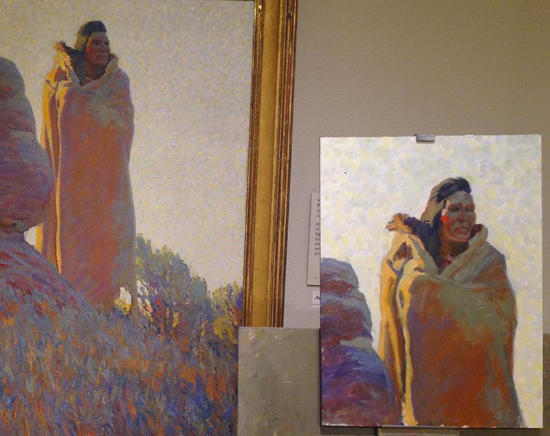 Maynard Dixon  'Medicine Robe'  and copy