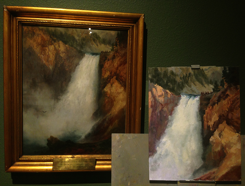 Thomas Moran     'Grand Canyon of the Yellowstone'     and copy