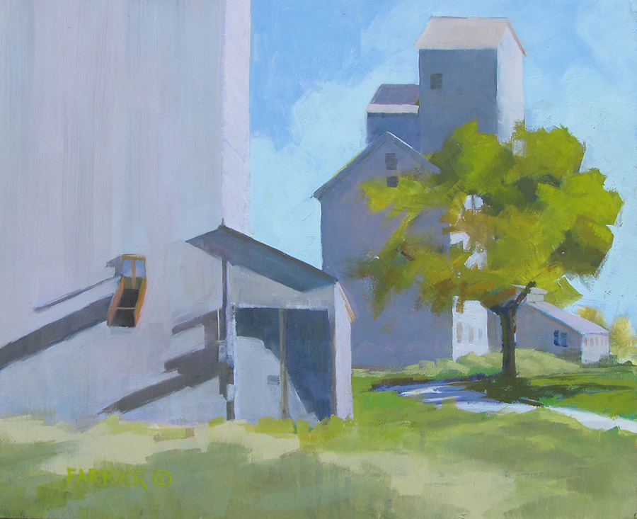 Morning at the Grain Bins     Oil     Private Collection
