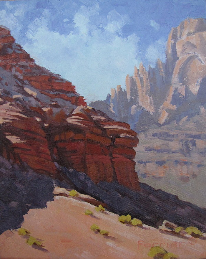 Red Rock Glow     Oil     Private Collection