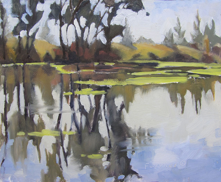 Rookerie Reflection     Oil     Private Collection
